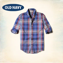 Old Navy Exclusive Casual Shirt-Dark Blue Check-ONCS08