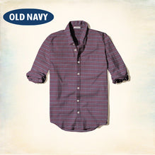 Old Navy Exclusive Casual Shirt-Dark Burgundy Check-ONCS07