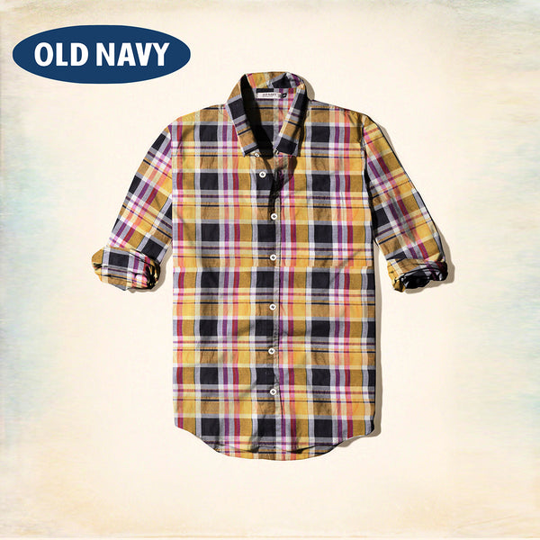 Old Navy Exclusive Casual Shirt-Yellow & Black Check-ONCS04