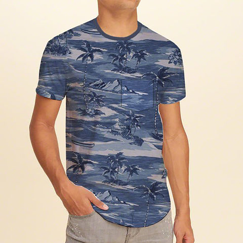 Next Half Sleeve Crew Neck T Shirt For Men-All Over Print-BE721