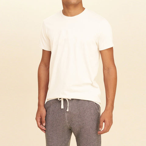 M&S Crew Neck T Shirt For Men -Off White- BE2033