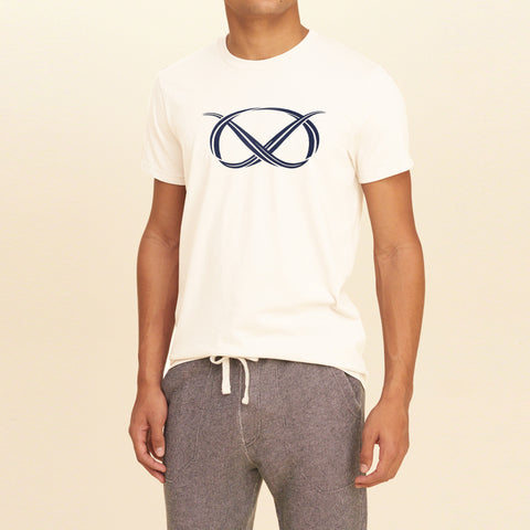 M&S Crew Neck T Shirt For Men -Off White- BE1091