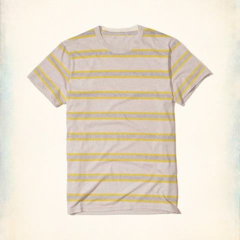 Fashion Boy Crew Neck T Shirt For Boys -Off White Melange With Stripe-BE1017