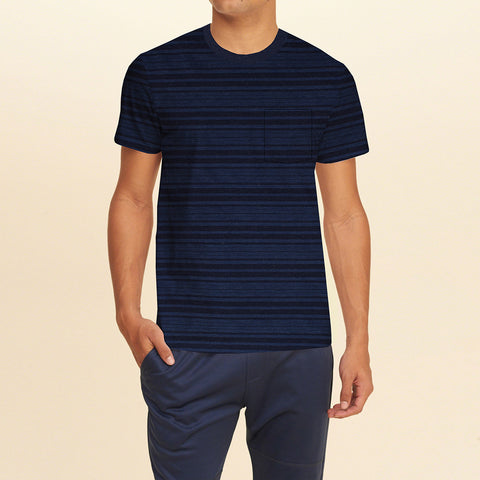 Next Half Sleeve Crew Neck T Shirt For Men-Dark Striped-BE715