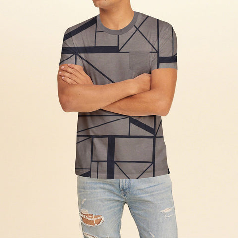 Next Half Sleeve Crew Neck T Shirt For Men- Print-BE713