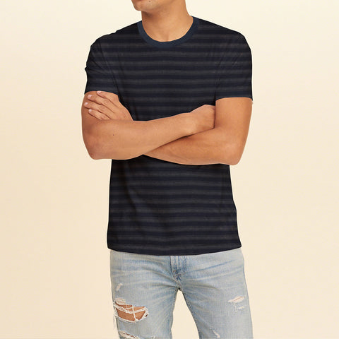 Next Half Sleeve Crew Neck T Shirt For Men-Dark Striped-BE717