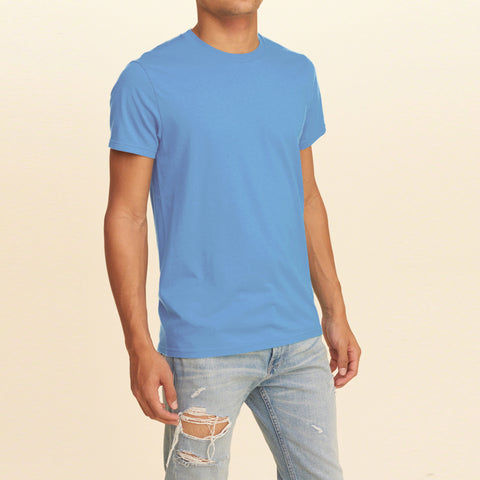 Next Half Sleeve Crew Neck T Shirt For Men-Light Sky-BE1094