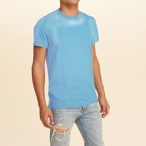 F&F Crew Neck T Shirt -Sky Blue-BE2100