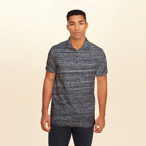F&F Polo Shirt For Men With Pocket -Charcoal Melange-BE1058
