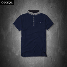 George Polo Shirt For Kid Cut Label-Dark Navy-PSK04