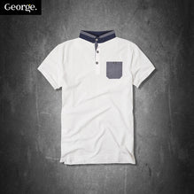 George Polo Shirt For Kid Cut Label-White-PSK12