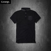 George Polo Shirt For Kid Cut Label-Dark Navy-PSK14