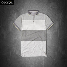 George Polo Shirt For Kid Cut Label-Gray & Lining-PSK02