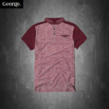 George Polo Shirt For Kid Cut Label-Burgundy Melange-PSK10