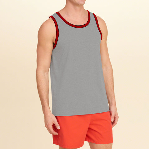 Basic World Sleeve Less Vest For Men-Slate Gray-BE2119