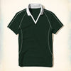 Tall & Long Size Rugby Polo Shirt For Men-Green-(TALSRS09)