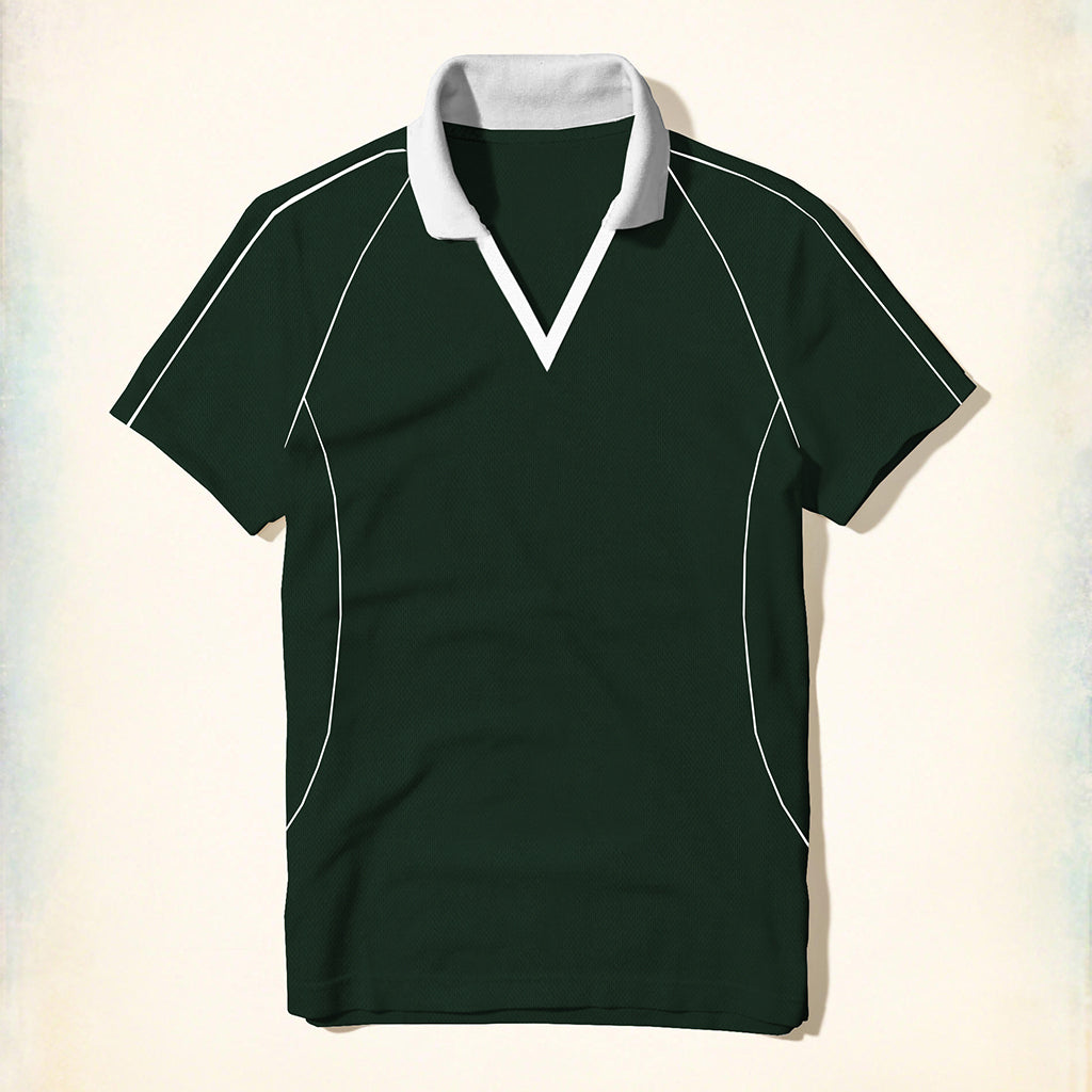 brandsego - Tall & Long Size Rugby Polo Shirt For Men-Green-(TALSRS09)