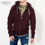 NEXT Thermal Zipper Hoodie For Men-Burgundy-NA306