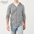 NEXT Thermal Zipper Hoodie For Men-Dark Gray-NA314