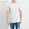 Lounge wear Crew Neck Tee Shirt For Men-Light Gray-NA1191