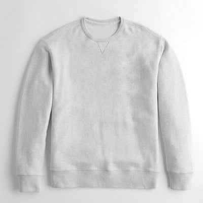 Next Crew Neck Fleece Sweatshirt For Men-Grey-NA6503