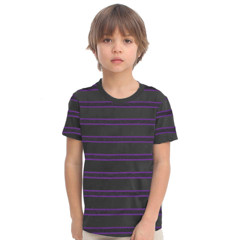 Fassion Crew Neck T Shirt For Boys-Striper-BE848