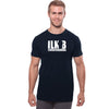 ILKB Viscose Crew Neck Tee Shirt For Men-Dark Navy-BE9705