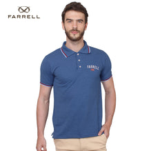 Farrell Polo Shirt For Men Cut Label-Blue Melange-BE2491