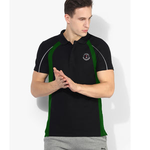 IRELAND Sport Wear Rugby Polo Shirt For Men-Black & Green-BE5134
