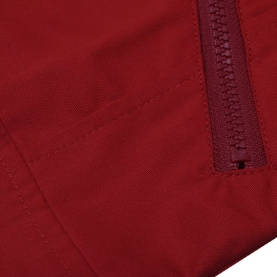 J.A.K Stylish Zipper Sleeveless Cargo Jacket For Men-Red-BE7397