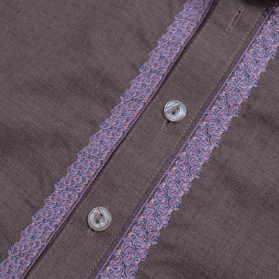 J. Premium Quality Washing Wear Shalwar Kameez Suit For Men-Pale Mauve-BE10062