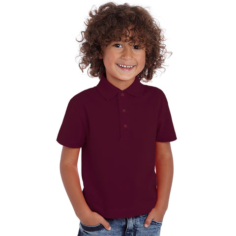 Dickies Polo Shirt For Boys-Maroon-BE2252