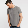 JM Beam Crew Neck Single Jersey Tee Shirt For Men-Light Brown Melange-BE8573
