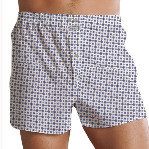 "Men's ""EA RKPEKO"" Cotton Boxer Short-Chek-BE735"