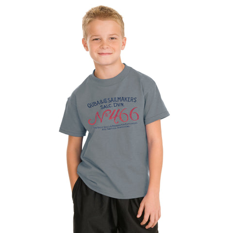 Next Half Sleeve T Shirt For Kid Cut Label -Slate Gray-BE2182
