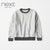 Next Crew Neck Sweatshirt For Kids-Off White Melange-NA6350