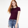 Knight Wear Single Jersey Crew Neck Tee Shirt For Women-Dark Indigo-BE9706