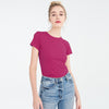 Knight Wear Single Jersey Crew Neck Tee Shirt For Women-Dark Pink-BE9689