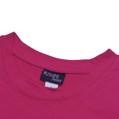 brandsego - Knight Wear Single Jersey Crew Neck Tee Shirt For Women-Dark Pink-BE9637