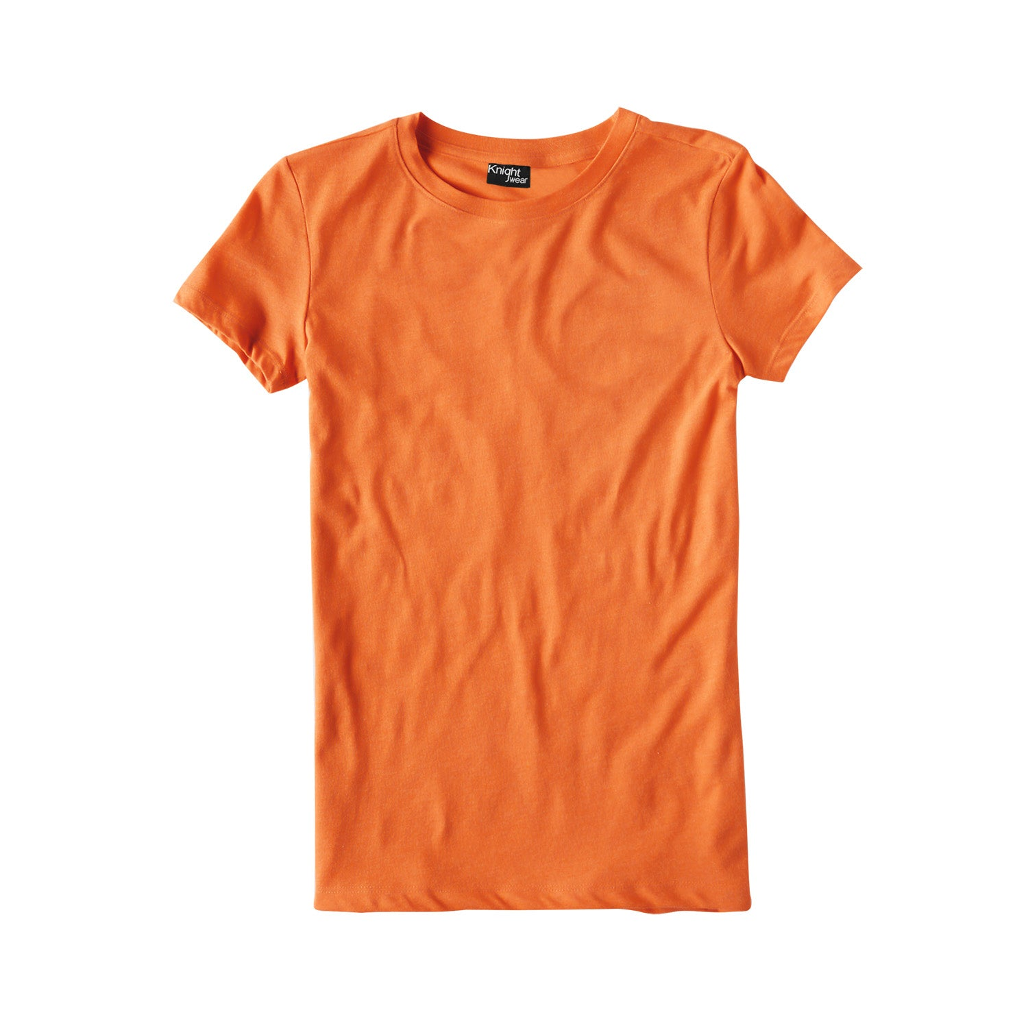 brandsego - Knight Wear Single Jersey Crew Neck Tee Shirt For Women-Orange-BE9662