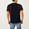 Kukri Half Sleeve Crew Neck Tee Shirt For Men-Dark Navy & Maroon-BE8132
