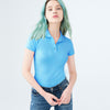 Kukri Half Sleeve P.Q Polo Shirt For Ladies-Light Sky-SP027