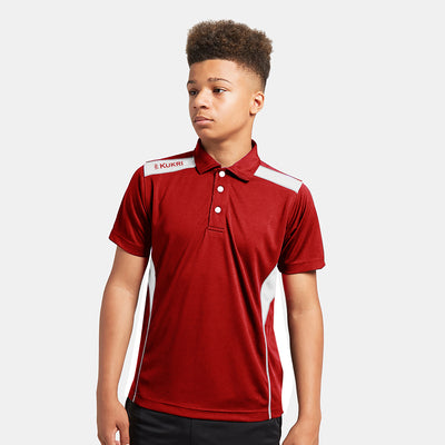 brandsego - Kukri Half Sleeve Polo Shirt For Boys-Red & White-BE8133
