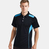 Kukri Half Sleeve Polo Shirt For Men-Dark Navy & Sky-BE8129