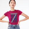 Kukri Half Sleeve Single Jersey Tee Shirt For Ladies-Dark Pink-BE8522