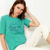 Kukri Half Sleeve Tee Shirt For Ladies-Cyan Green-BE8508