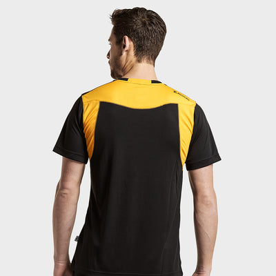 brandsego - Kukri Half Sleeve Tee Shirt For Men-Black & Yellow-BE8124