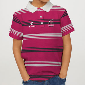 Kukri-Single Jersey-Stylish-Polo-For Boys-Pink Stripe-BE4781