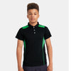 Kukri Half Sleeve Polo Shirt For Boys-Dark Navy & Green-BE8127