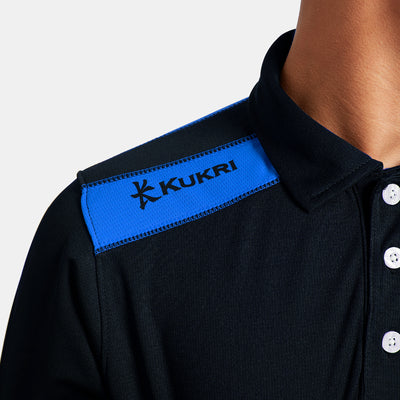 brandsego - Kukri Half Sleeve Polo Shirt For Boys-Dark Navy & Sky-BE8128